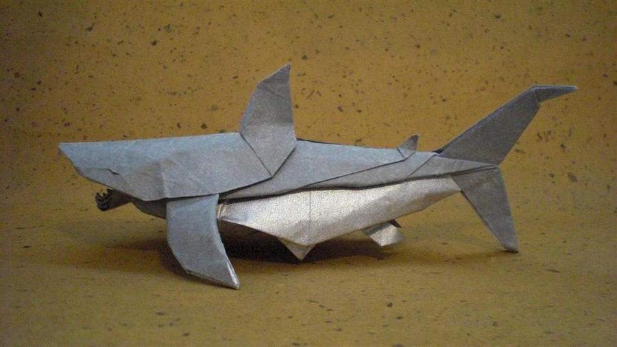 Great White Shark Trollip By Origami Artist Galen On Deviantart