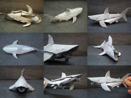 White Shark Collage-Trollip by origami-artist-galen