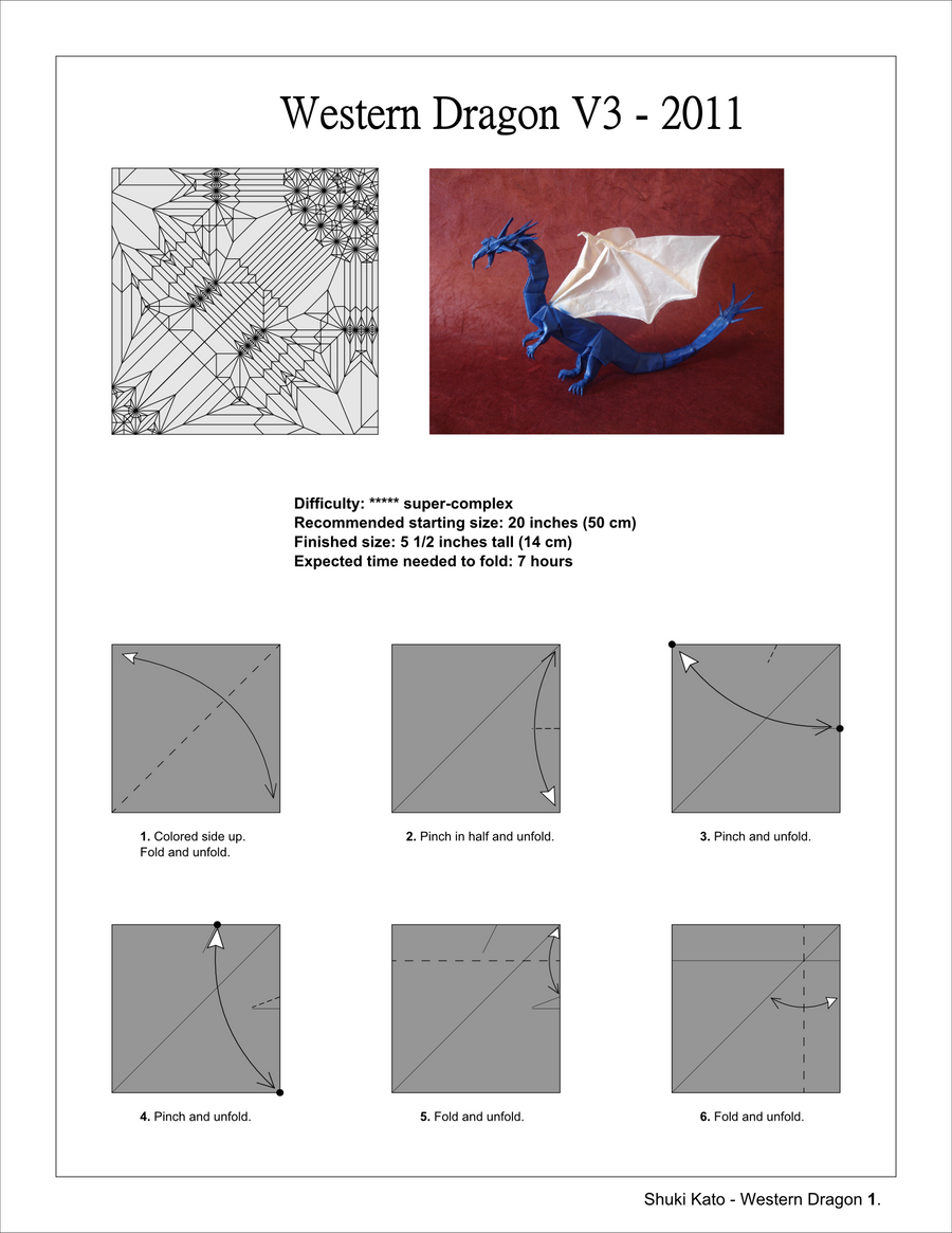 western dragon v3 full diagrams by origami artist galen on deviantart rh deviantart com Easy Origami Patterns Elephant Origami Diagram PDF