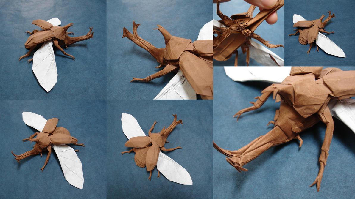 Kabutomushi V3 2/2 by origami-artist-galen