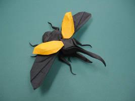 Origami Hercules Beetle by origami-artist-galen