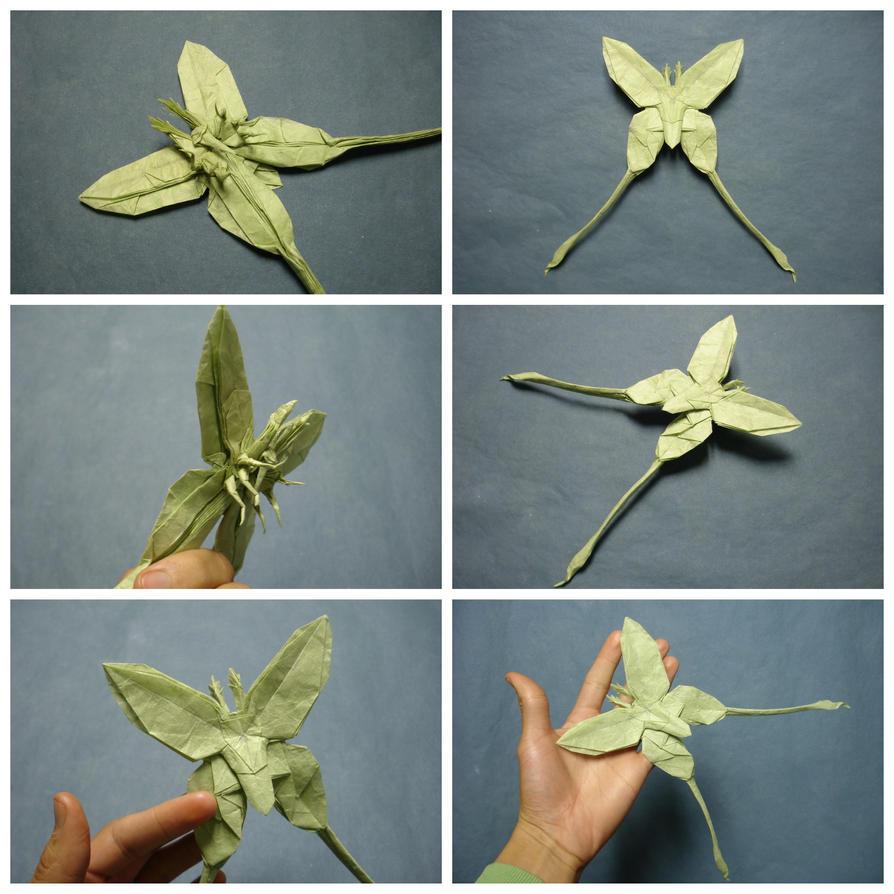 Origami Luna Moth By Artist Galen