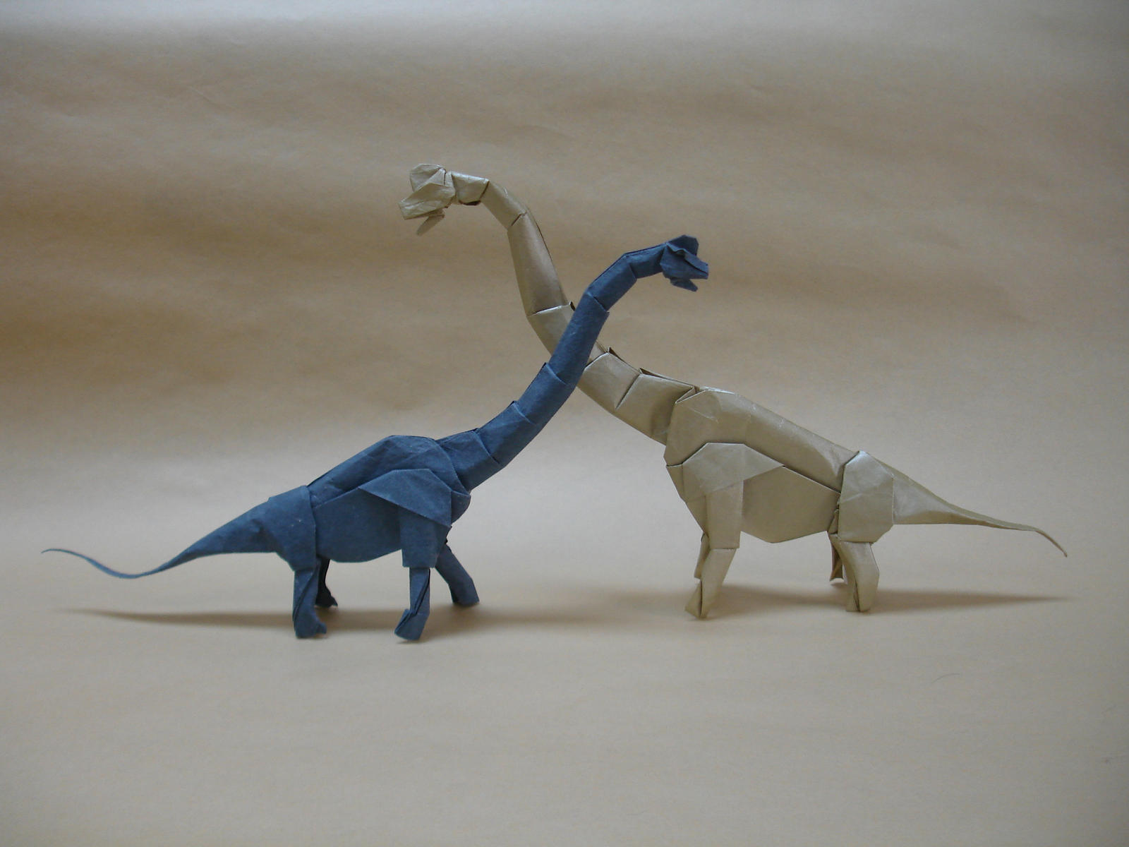 Origami Brachiosaurs by origami-artist-galen