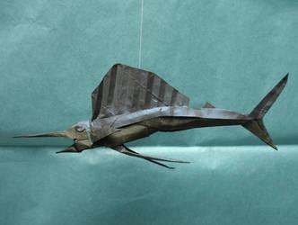 Nguyen Ngoc Vu - Sailfish by origami-artist-galen
