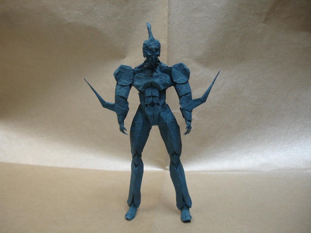 Origami Guyver I by origami-artist-galen