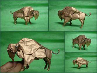 Origami Bison by origami-artist-galen