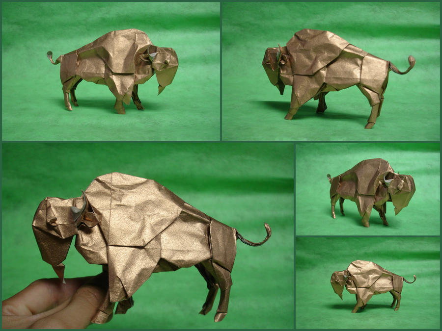 Origami Bison by origami-artist-galen