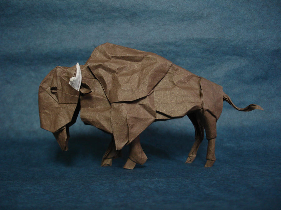 American Bison by origami-artist-galen
