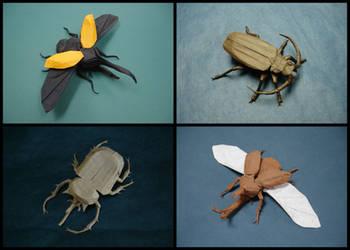 Origami Beetles
