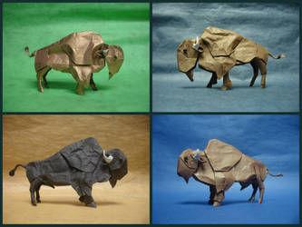 Origami Bison