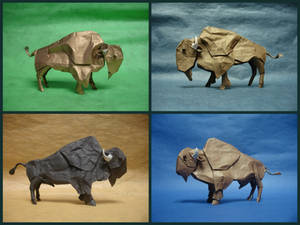 Origami Bison