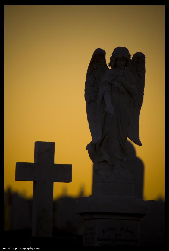 cemetery sunset by mvettas