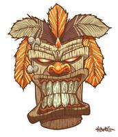 Tiki God mask by MFMugen
