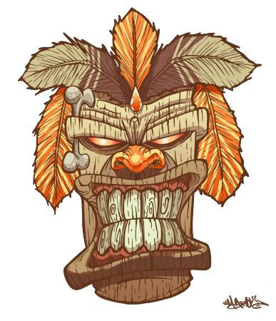 Tiki God mask by MarcosMachina