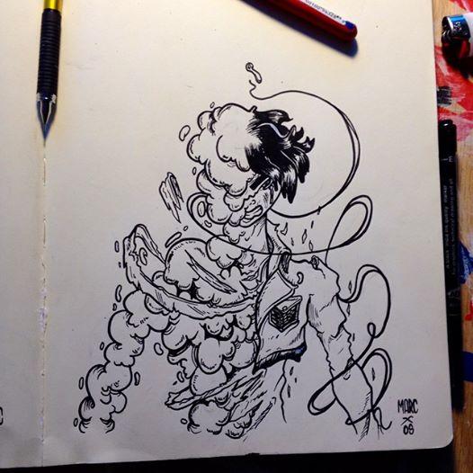 Inktober #5 Eren Jaeger by MarcosMachina