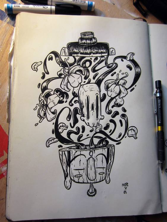 Inktober #11 Nirvana by MarcosMachina