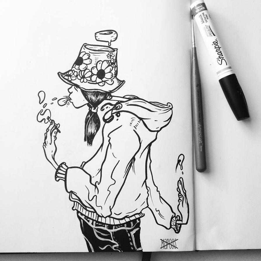Inktober #12 Buckethats by MarcosMachina