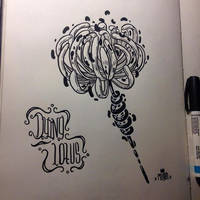 Inktober -1 Dying lotus by MFMugen