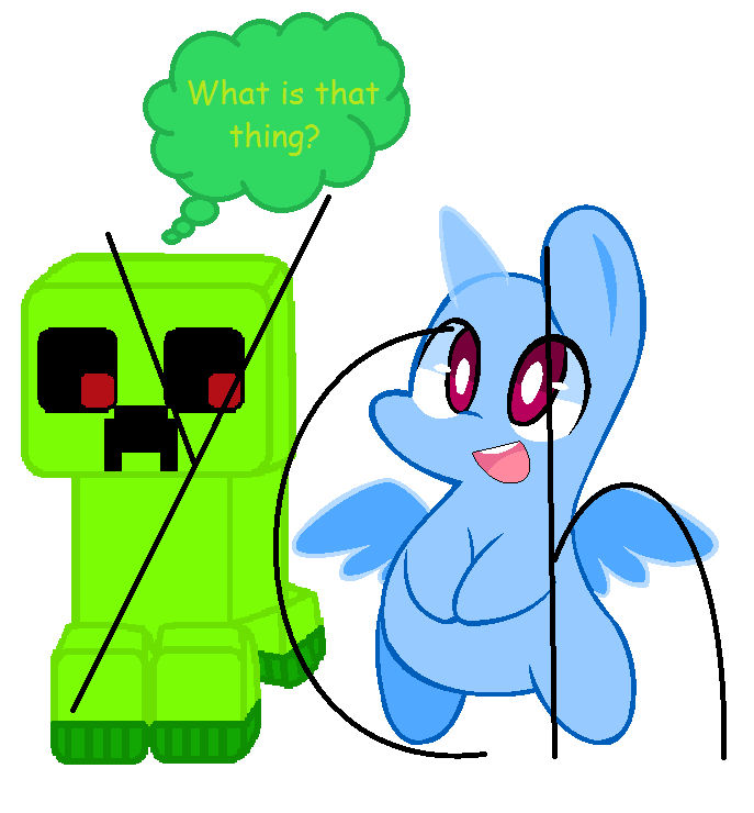 MLP YCH/Creeper picture (10 points) by deslove01