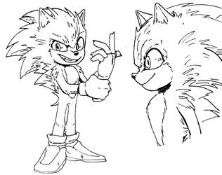 Sonic Movie Redesign #2 (Electric Boogaloo) by squigglydigg