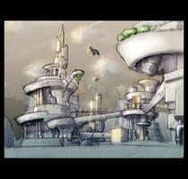 Future city concept by Joncuki