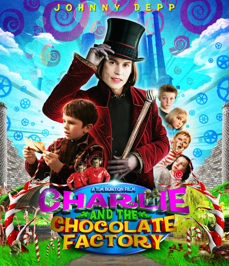 Charlie and the Chocolate Factory - Movie Poster by Zungam80Charlie And The Chocolate Factory Movie Poster