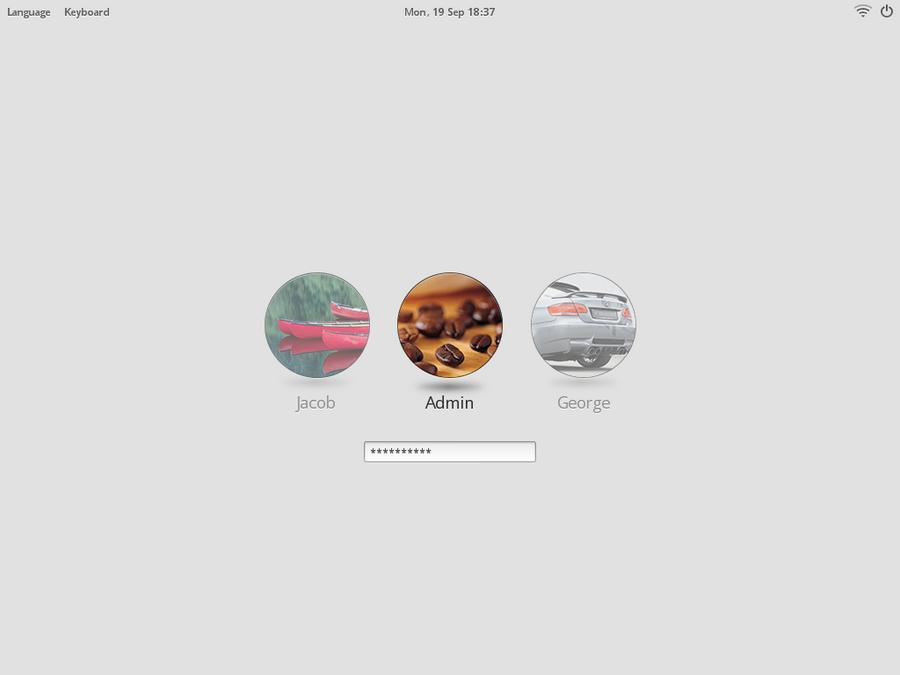 Login Screen - My final design - OS - Haiku Community