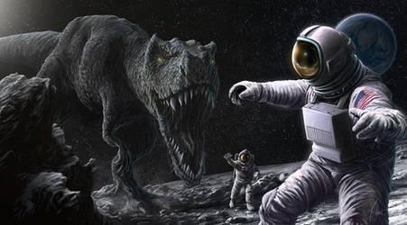 Jurassic moon by MarcDufosset