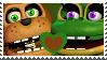 Nedd Bear x Happy Frog Stamp by Fazbear14
