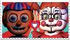 FNAF-Cirucs Baby x Balloon Boy Stamp by Fazbear14