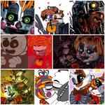 Scrap Baby x Molten Freddy Collage