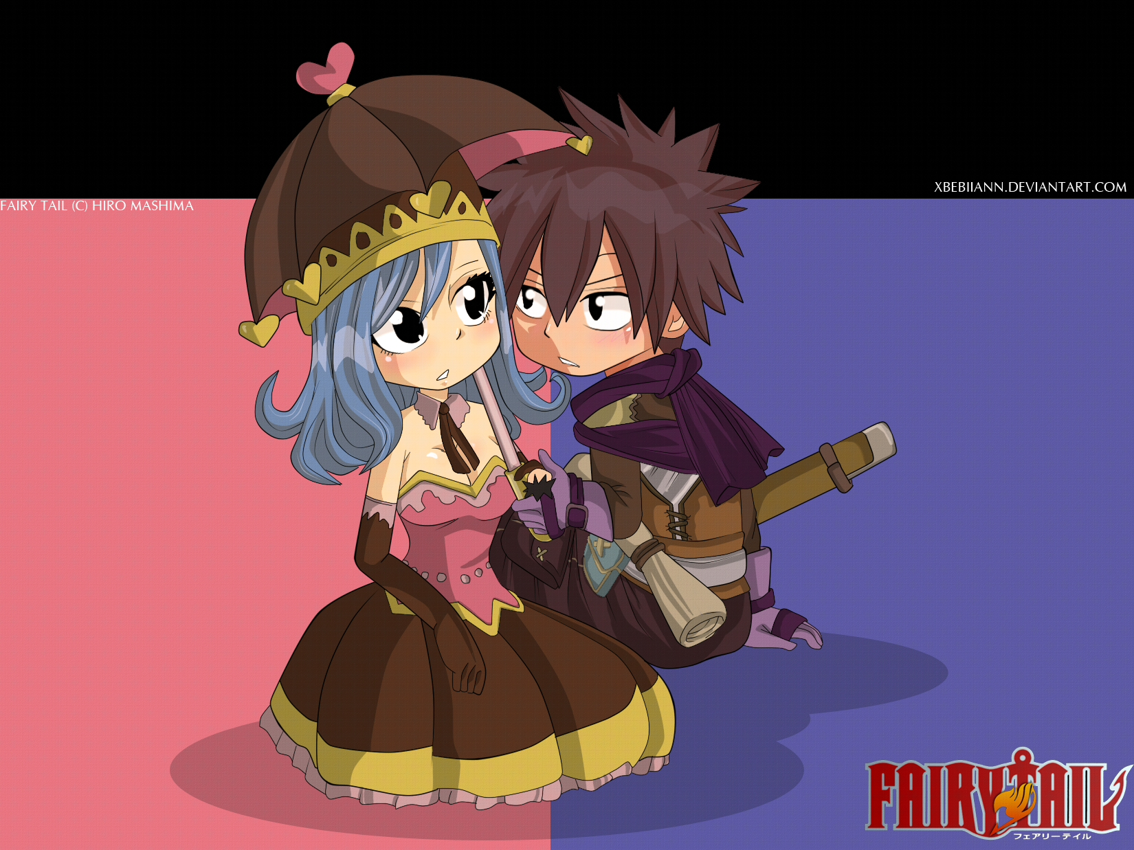 (Fairy Tail) Gray x Juvia -Pink and Blue by xBebiiAnn