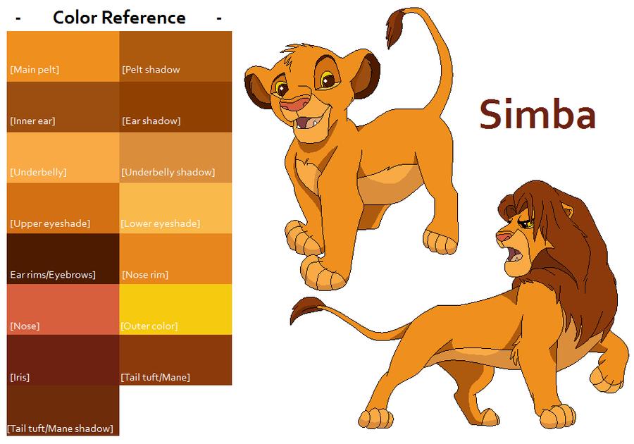 TLK Simba Color Reference by FeralHeartsFan on DeviantArt