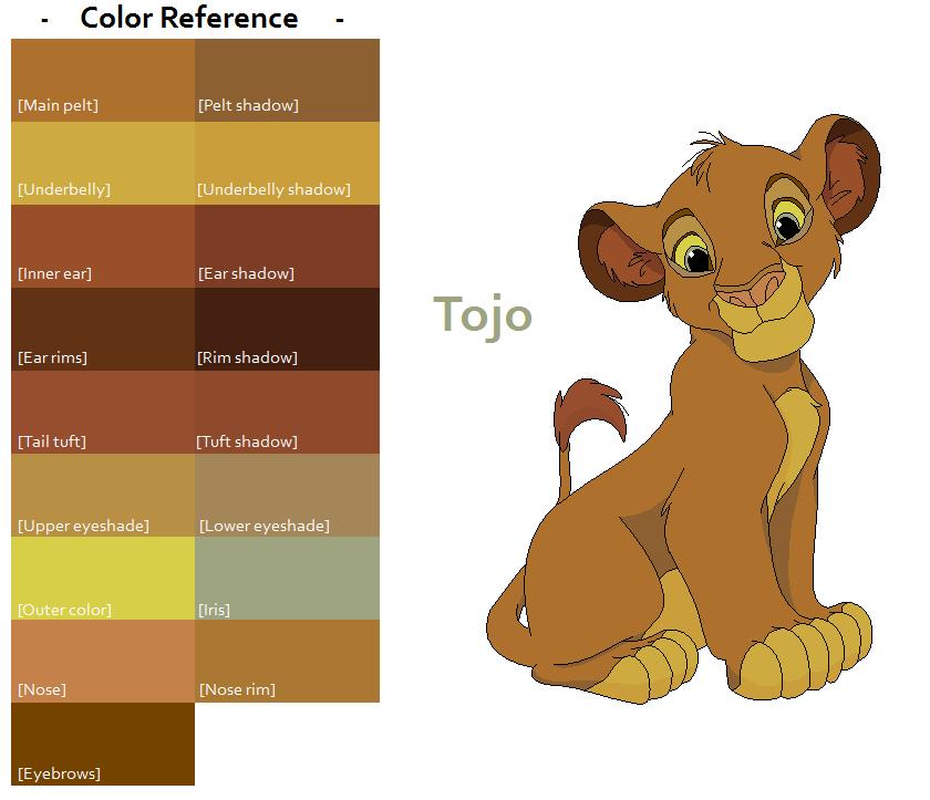 TLK Tojo Color Reference by FeralHeartsFan on DeviantArt