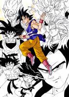 Goku : Bye Bye xDDDD by Chiok
