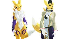 (MMD/DM) Renamon and Taomon :Preview: