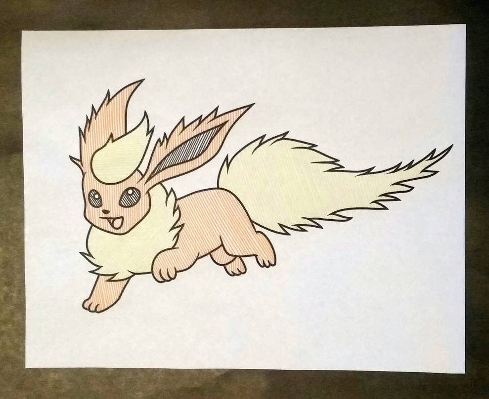 flareon coloring page by peacein17 on deviantart deviantart