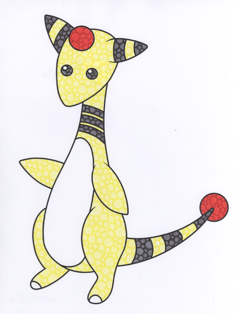 Ampharos Coloring Page by peacein17 on DeviantArt