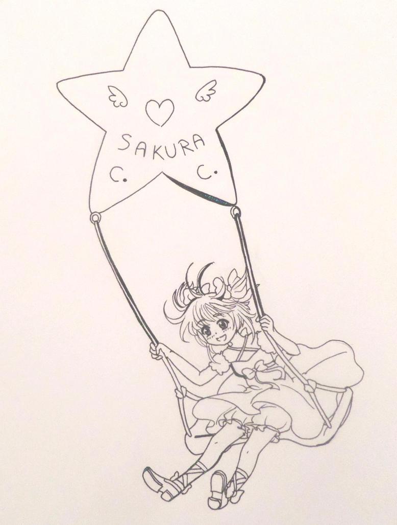 Starry swing by Amburu-hime