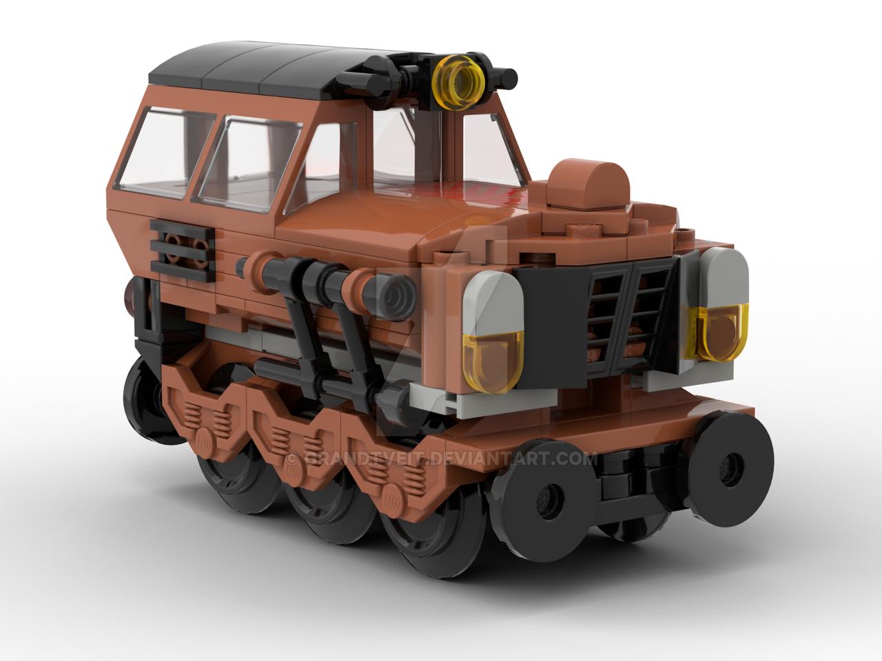 B0-W5 MK1 Orange Diesel Train Lego MOC by GrandTveit on