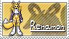 Renamon Stamp by Thunderbirmon