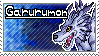 Garurumon Stamp by Thunderbirmon
