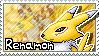 Renamon Stamp 2 by Thunderbirmon