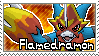 Flamedramon Stamp by Thunderbirmon