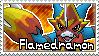 Flamedramon Stamp by Thunderbirmon