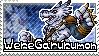 WereGarurumon Stamp by Thunderbirmon