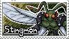 Stingmon Stamp by Thunderbirmon