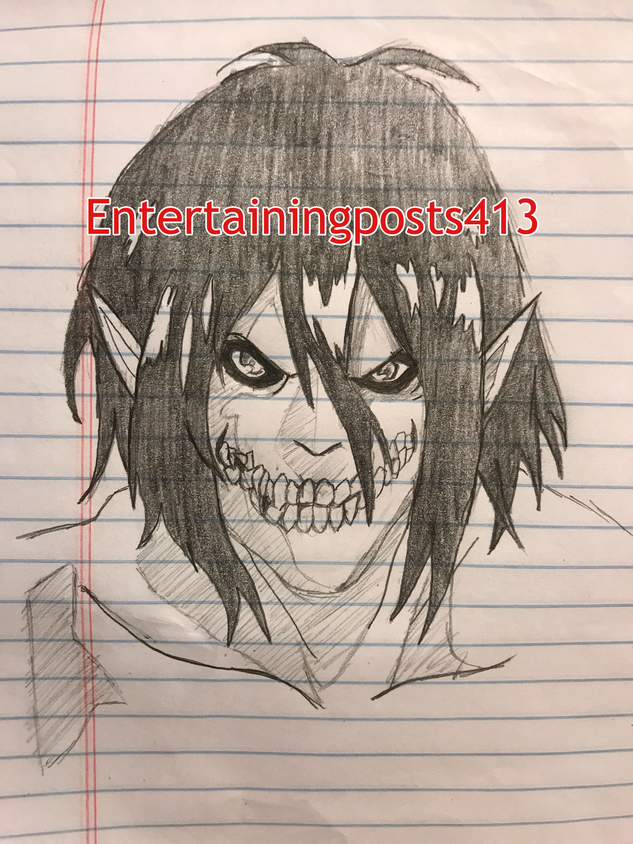 Eren Yeager Titan Form Complete By Entertainingposts413