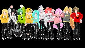 All my TDA Hoodie Models + DOWNLOADS by Espirea