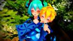 MikuxLen Yukata LOVE by Espirea